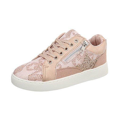 Espadrilles Baskets Ital 744 Altrosa Sneakers Low Mode design Femme Plat Chaussures qxUwxa40