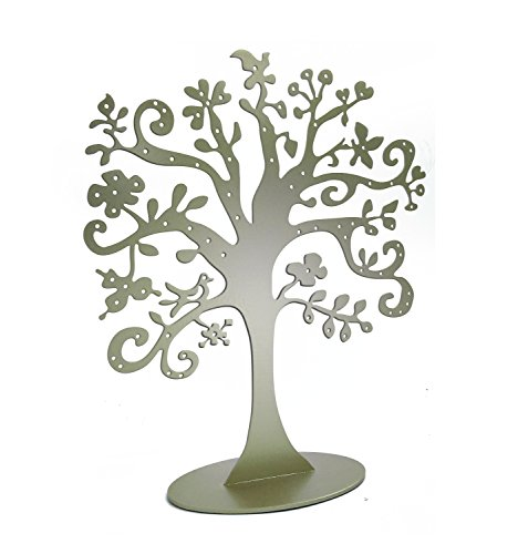 Jewelry Tree Stand Metal Jewelry Organizer Holder Display for Earrings Bracelets Necklaces (Gold)