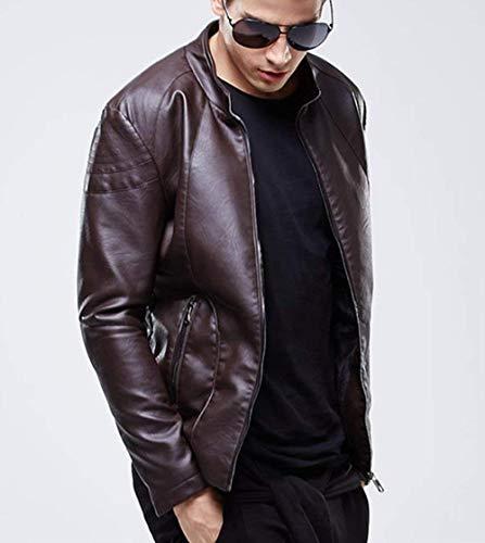 Cappotto Pu Lunghe Moto Primavera Sintetica Giacche Capispalla Giubbotto Braun A Abbigliamento Autunno Pelle Uomo Transizione Moda Per Maniche Pelliccia In Bomber 0n6w8U