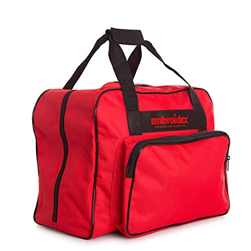 Embroidex Red Sewing Machine Carrying Case - Carry Tote/Bag Universal