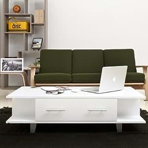 Hokku Designs Claire Coffee Table in Matte White YNJ-905CT