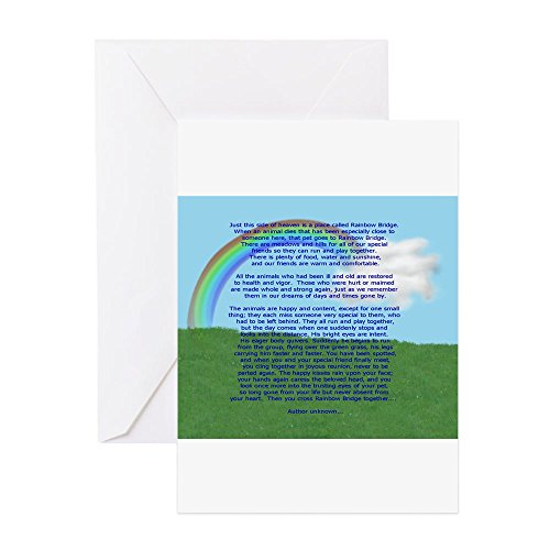 CafePress - Rainbowbridge2.Jpg - Greeting Card, Note Card, Birthday Card, Blank Inside -