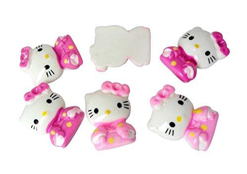 Resin Hello Kitty Cat Kimono Flatback Scrapbooking Embellishments Trim Supply Craft (Bow Kimono)