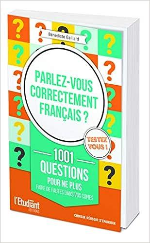 Amazon Fr Parlez Vous Correctement Francais Benedicte