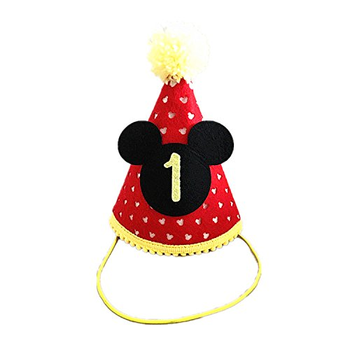 Mickey party Mini hat| First Birthday Outfit Boy Mickey Mouse Party Hat Cake Smash Outfit | 1st Birthday Outfit | Party Hat | Cake Smash Cake Photoshoot Photoprop