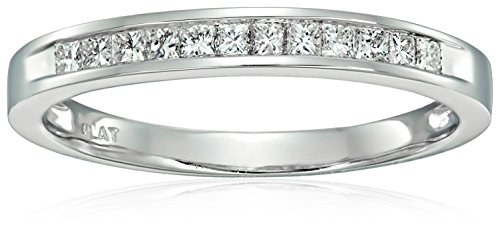 Platinum Princess-Cut Diamond Wedding Band (1/4cttw, H-I Color, SI2-I1 Clarity)