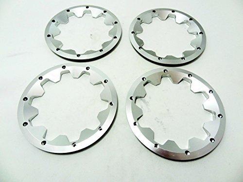 King Motor Aluminum Outer Beadlocks (silver) Fits HPI Baja 5B 5T 5SC 2.0 SS