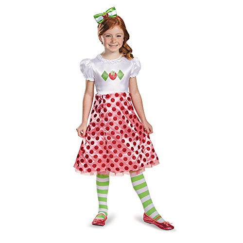 Disguise 84471L Strawberry Shortcake Classic Costume, Small -