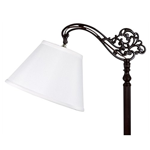 Upgradelights White Shantung Silk 10 Inch Uno Lamp Shade Replacement 6x10x7.5