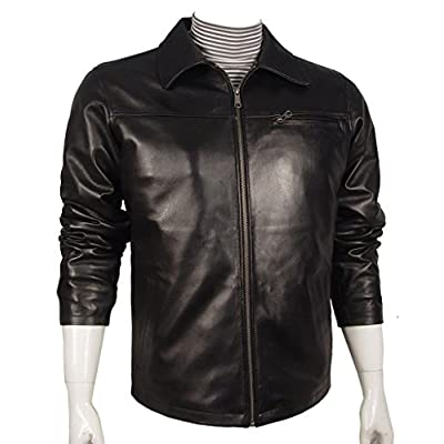 Cheap Paccilo 1002 Mens leather bomber jackets Soft Leather Tall All Size free shipping