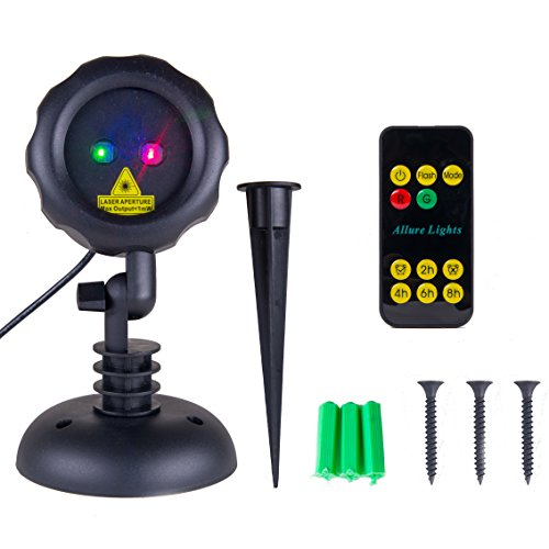 Spot Projection Attachment (Red and Green Christmas Laser Lights with Remote - Indoor and Outdoor Light Projector)