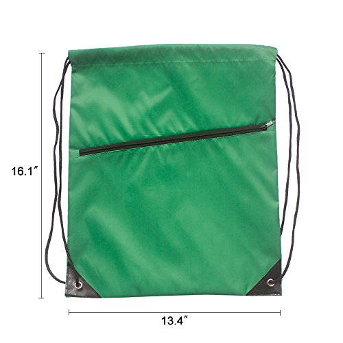 a938daff3f1f IMI 10PCS Drawstring backpacks Cinch Bags for Gym Traveling Partys  Promotional Sport (Green)