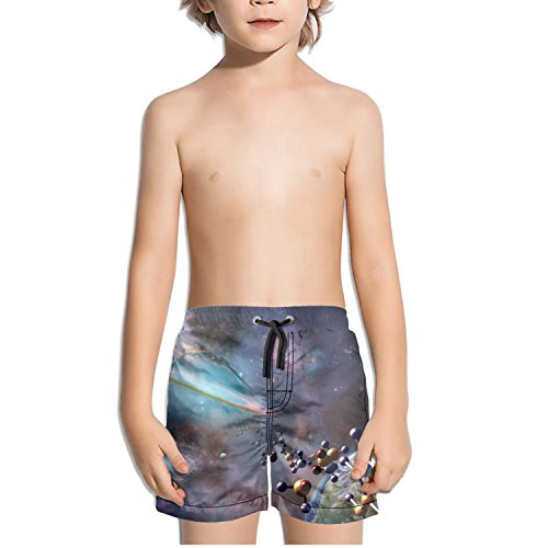 TylerLiu Astrochemistry Spectra Molecules in Space Kids Boy's Fast Drying Beach Swim Trunks Pants
