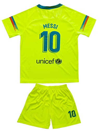 7ee45e376 BIRDBOX Youth Sportswear Barcelona Leo Messi 10 Kids Away Soccer Jersey  Shorts Bag Keychain Football