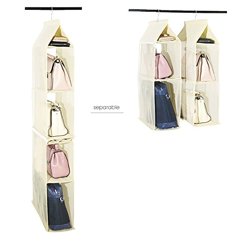 Hanging Handbag Organizer Detachable Bag Storage Holder for Closet, Bedroom from SEA OR STAR