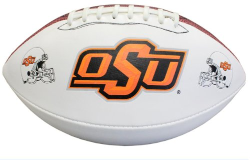 NCAA Oklahoma State Cowboys Autograph Football, Brown, Official Size (Official Ncaa Autograph Football)