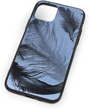 Bird Feather iPhone 11 Pro Maxケース、TPUスリムソフトハードハードタイヤ耐衝撃保護ファッションカバーケースiPhone 11 Pro Max 6.5インチ