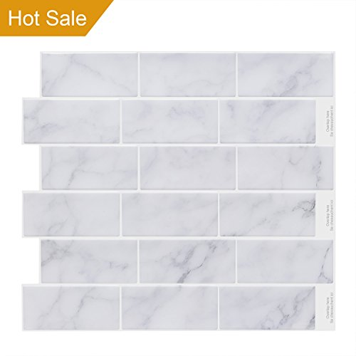 Bathroom Wall Tiles (Vamos Tile Premium Anti Mold Peel and Stick Tile Backsplash,Self Adhesive Wall Tiles for Kitchen & Bathroom-11.2