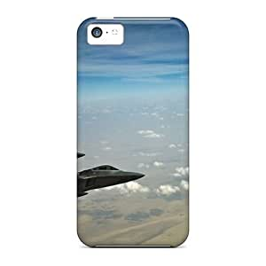 Premium Aircraft F22 Raptor Back Cover Snap On Case For Iphone 5c