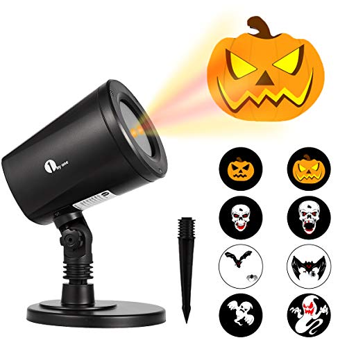 Happy Halloween Ghost Gif - 1byone Halloween Led Pattern Projection Lights
