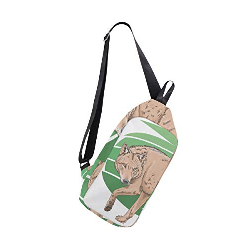 amp; Bennigiry One Backpack Bags Women Bag Wolf Men Shoulder For Crossbody Chest Sling 8xxPWInT