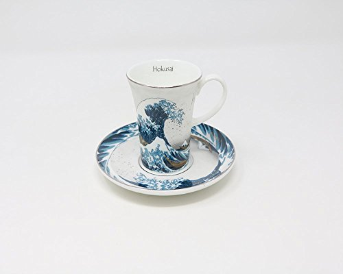 Goebel - Hokusai - Espresso Cup Saucer - Great Wave Off Kanagawa ()