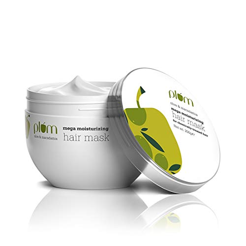 Plum Olive & Macadamia Mega Moisturizing Hair Mask   Deep Nourish   Shea Butter   Hair Spa   Sulphate Free   Silicone…