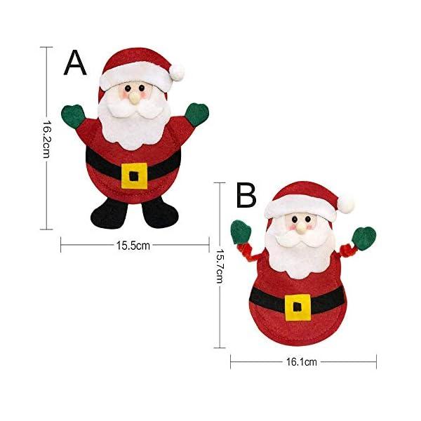 Hopeas 6pcs Portaposate Natalizie,Decorazione per Tavolo di Natale Babbo Pupazzo di Neve alci Natale Tasche Posate 5 spesavip