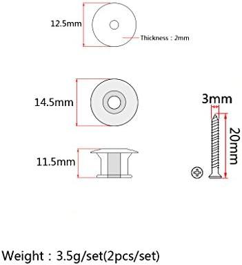 2 Pezzi Dado Viti In Plastica ABS Straplock Strap Lock Per Tracolle Di Basso Elettrico Chitarra Acustica
