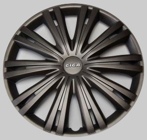 "Tapacubos Tapacubos tapacubos Giga oscuro gris oscuro 15"" Pulgadas 4 Kit, BMW Ford VW"