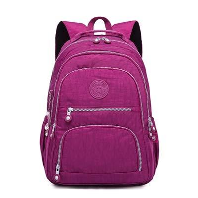 violet rouge 33X16X47CM Femmes Sac à Dos D'école pour Les Adolescentes Féminine Ordinateur portable Ordinateur portable Sac à Dos Voyage Sac 33X16X47CM armée Vert