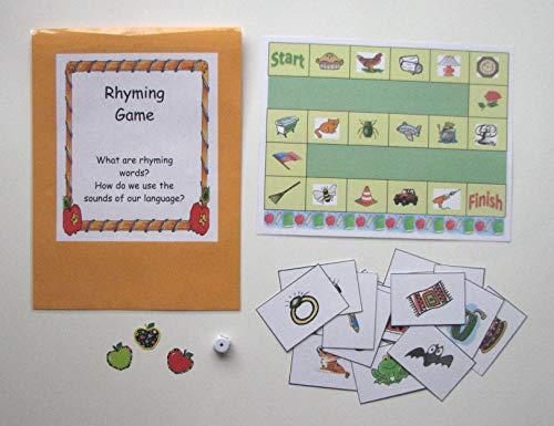 Teacher Made Literacy Center Phonological Awareness Resource Rhyming Game