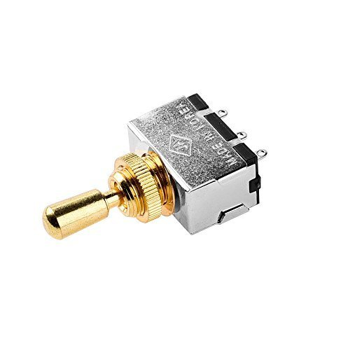 JD Metal Electric Guitar 3 Way Box Toggle Switch For Les Paul With Brass Tip