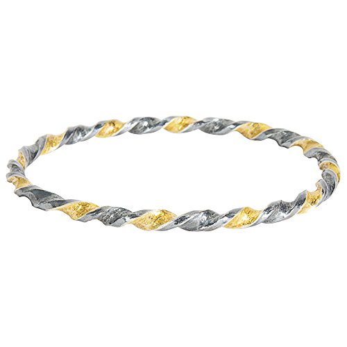 Gemma by WP Diamonds Gurhan Midnight Bangle Bracelet in Gold Plated Sterling Silver MSRP 2,400