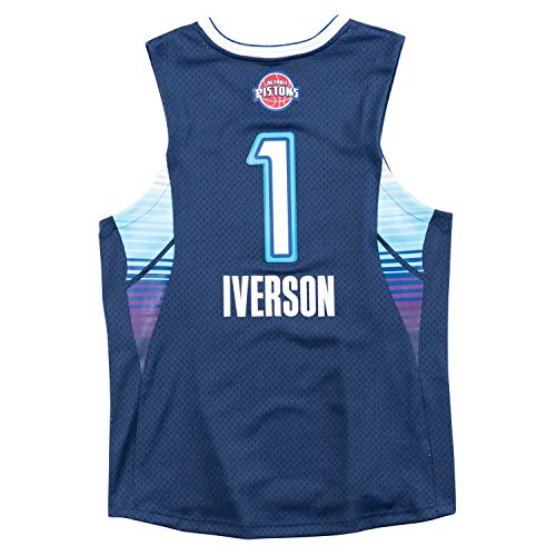 Mitchell & Ness Allen Iverson NBA 2009 All Star East Men's Swingman Navy Blue Throwback ()