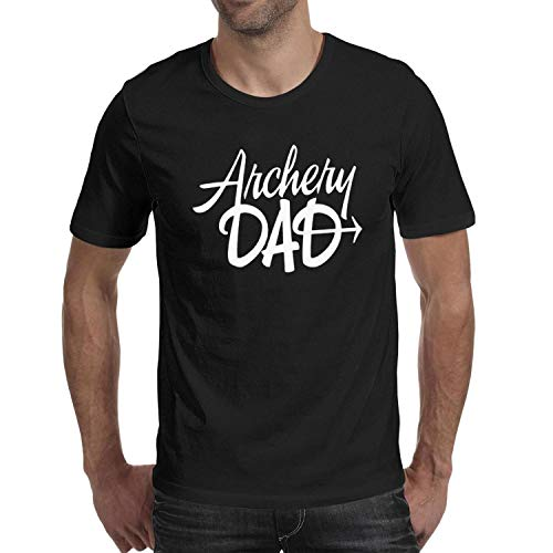 DHIASJXCLWE Adult Round Neck Black Casual Archery DAD Short Sleeve Tee Shirts -