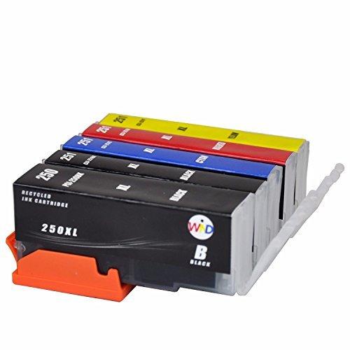 12 Pack Compatible Canon PGI250 PGI-250 CLI251 CLI-251 Ink ...