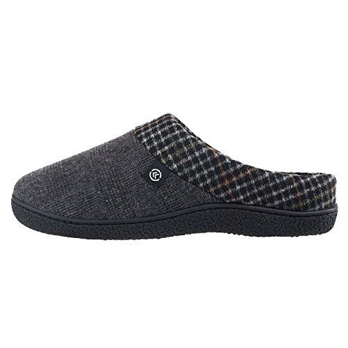 Isotoner Men's Plaid Hoodback Slippers