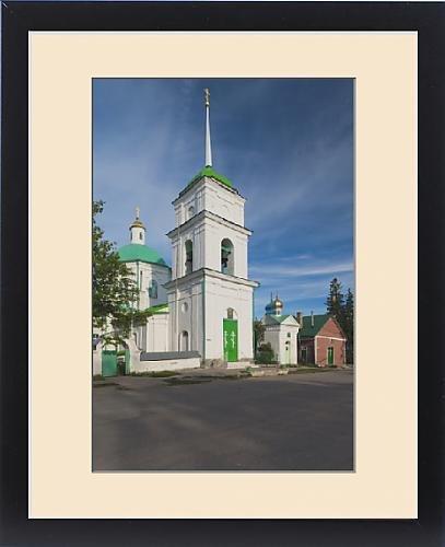 Framed Print of Russia, Pskovskaya Oblast, Pechory, Pechory Monastery, church on Sbornaya Street by Fine Art Storehouse