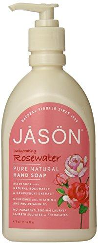 JASON Rosewater Hand Soap, 16 Ounce