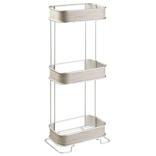 Mdesign Free Standing Bathroom Storage Shelves For Towels Soap Tissues Lotion Accessories