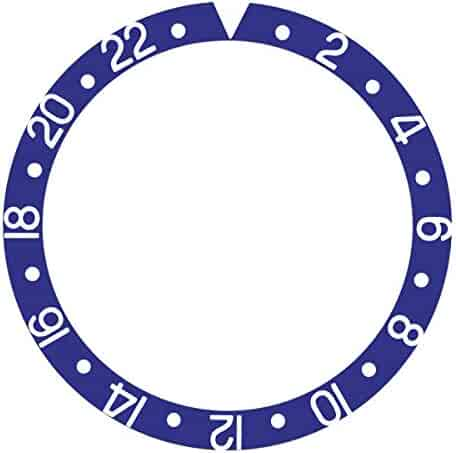 2de5dd7de BEZEL INSERT ALUMINUM FOR ROLEX GMT I MASTER 1675, 16750, 16753 16758  BLUEBERRY