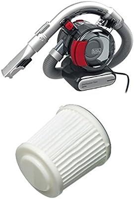 Black+Decker - Aspirador ciclónico con tubo para automóvil PD-1200-AV, 12 V, color negro y rojo + Accesorio para aspiradora PD10: Amazon.es: Coche y moto