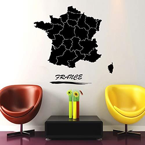 42 * 42 cm Mapa de Francia Tatuajes de pared Pegatinas de viaje ...