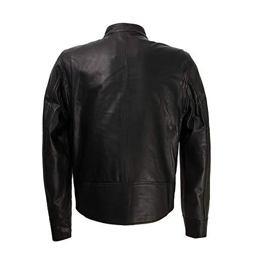 Elegante Giacche notte Zerimar UomoPelle Nero Giacca Abbigliamento DEHI29