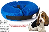 Inflatable Dog Collar | Recovery Cone | After Pet Surgery | Prevent Dogs From Biting & Scratching | Adjustable Thick Strap | Soft Comfortable Donut