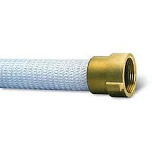 """FireTech Rack & Reel Fire Hose, White, 1-1/2"""" ID, 100 feet, 500 PSI Burst Pressure, M x F NST Brass Connectors, it has a proof test pressure of 500 psi, service test of 250 psi. NST Threads"""