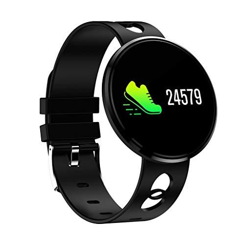 YEZIJIN Smart Watch Sports Fitness Activity Heart Rate Tracker Blood Pressure Watch Under 50 - Analog Curves Black