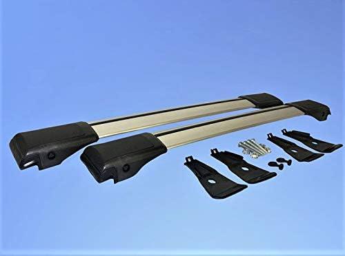 2014 Anodizado Plata HippoBar Aerodin/ámico /& Bloqueable Barras Transversales para Volvo XC90 MK1 2003