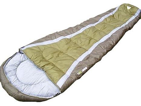 Juego de mesa saco de dormir tipo momia (verde militar)